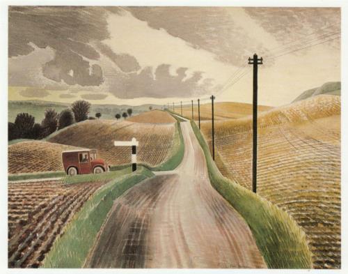 Wiltshire Landscape, 1938. Via WikiArt