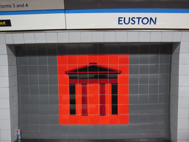 Euston mural. © Copyright Mike Quinn and licensed for reuse under this Creative Commons Licence. Via this geograph page