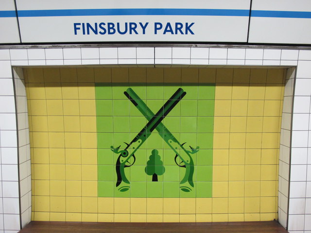 Finsbury Park mural. © Copyright Mike Quinn and licensed for reuse under this Creative Commons Licence
