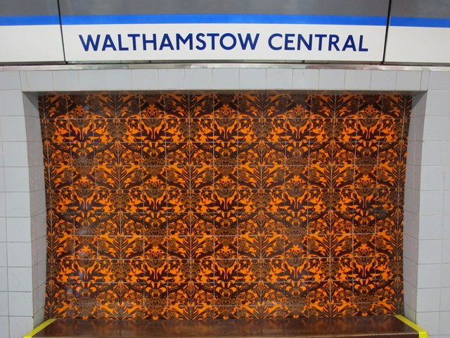 Walthamstow Central mural. © Copyright Mike Quinn and licensed for reuse under this Creative Commons Licence. Via this geograph page