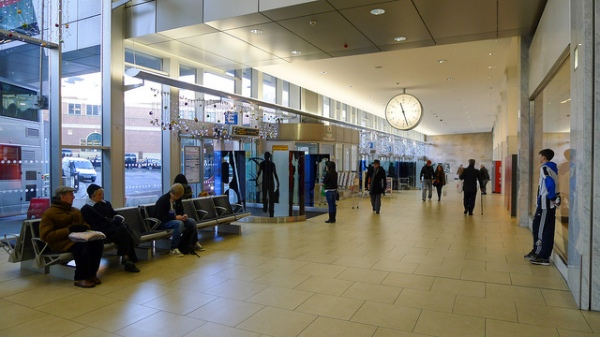 Newcastle's Eldon Square shopping centre bus station is somewhat better than Guildford's. Photo by Alvin Leong [CC BY 2.0] via this flickr page