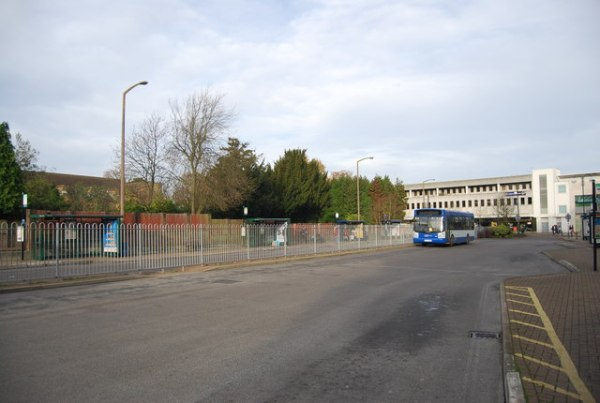 Crawley bus station. Photo by Nigel Chadwick [CC BY-SA 2.0], via Wikimedia Commons