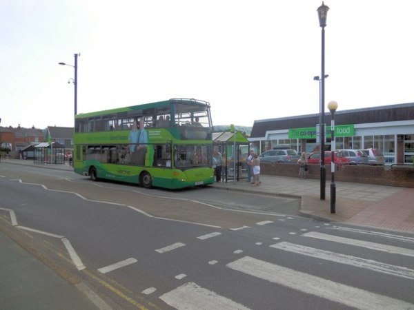 Shanklin's not-really-a-bus-station. © Copyright Paul Gillett and licensed for reuse under this Creative Commons Licence