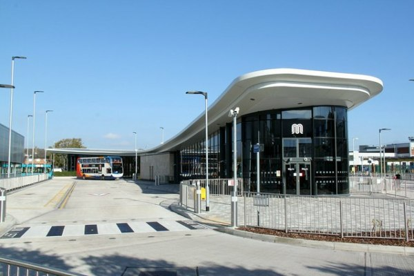 Wythenshawe Interchange's bus station, which opened in 2015. © Copyright Alan Murray-Rust and licensed for reuse under this Creative Commons Licence