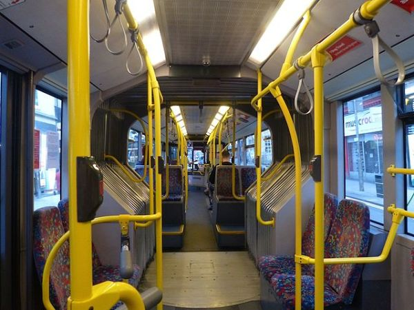 The cavernous interior of an ex-London articulated Citaro, now in Brighton. Photo by Les Chatfield from Brighton, England (The Bend of a Bendy bus) [CC BY 2.0], via Wikimedia Commons