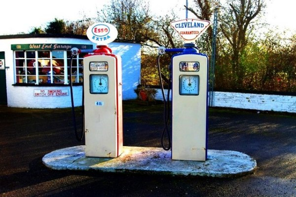 Esso and Cleveland petrol pumps, Somersham. © Copyright Tiger and licensed for reuse under this Creative Commons Licence