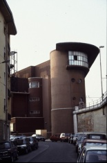 Control tower and boiler house, Santa Maria Novella station, Florence. Photo by Penn State University Libraries Architecture and Landscape Architecture Library [CC BY 2.0] via this flickr page