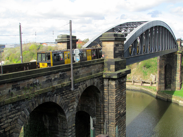Monkwearmouth Railway Bridge. Photo by Tom Bastin [CC BY 2.0] via this flickr page