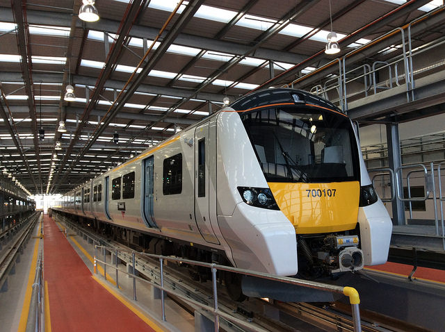 The underwhelming exterior of a new Thameslink train. Photo by Department for Transport [CC BY-NC-ND 2.0] via this flickr page.