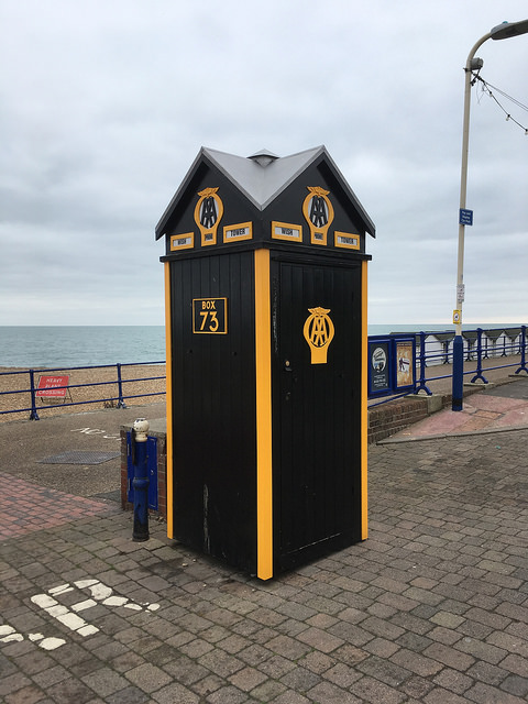 AA Box 73 at the Wish Tower, Eastbourne. Photo by Daniel Wright [CC BY-NC-ND 2.0] via this flickr page