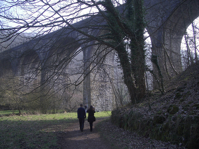 The changing fortunes of transport infrastructure: this viaduct in Monsal Dale, Derbyshire, was initially regarded as a hideous modern eyesore (much as John Hayes regards modern transport buildings). Now we love it because it's 'traditional' and 'historic'. Current opinion is no guide to the future, nor transport infrastructure's intrinsic worthiness. Photo by Duncan Hull [CC BY 2.0] via this flickr page