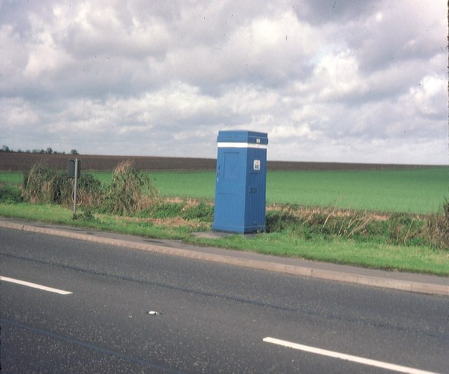 RAC sentry box near Saxondale in 1983. © Copyright David Hillas and licensed for reuse under this Creative Commons Licence via this geograph page