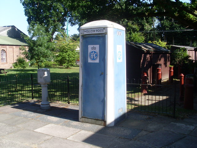 1960s RAC Telephone Box at the East Anglia Transport Museum. © Copyright David Hillas and licensed for reuse under this Creative Commons Licence via this geograph page