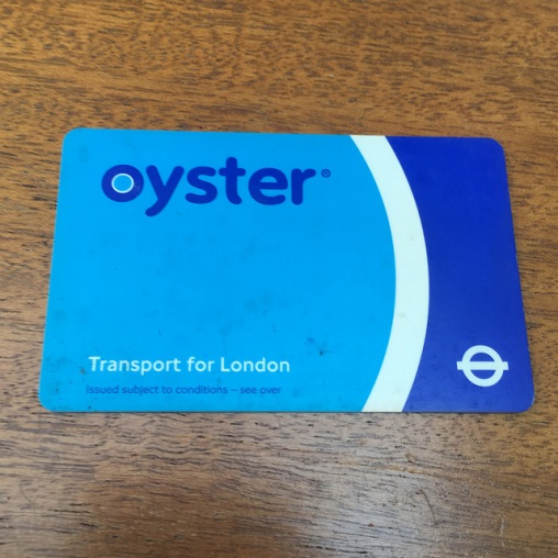 My very own Oyster card, using mid-blue as the main colour. Photo by Daniel Wright [CC BY-NC-ND 2.0] via this flickr album
