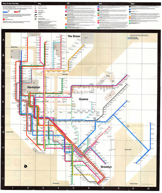 How To Read A New York City Subway Map.White On Black And Read All Over New York City Subway Signage And